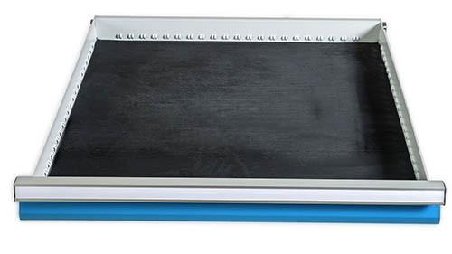 Riffelgummi-Einlage Nutzmaß 600x600 mm für Schubladen BxT 705 x 736 mm, ab Front Höhe 50 mm