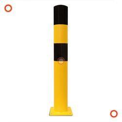Rammschutz-Poller schwarz-gelb, Typ L, zum Einbetonieren