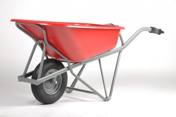 Schubkarre PROFIMAX mit Kunststoffmulde, Tragkraft 200 kg, 90 Liter Inhalt, Luftreifen