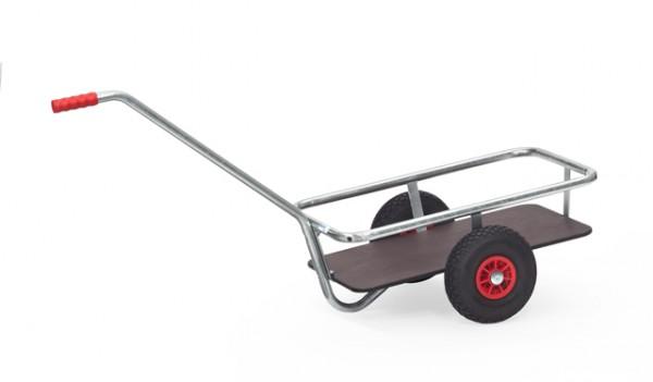 Leichter Handwagen 700x400 mm, verzinkt, 200 kg Tragkraft, Ladefläche wasserfest, Rahmen feuerverzin