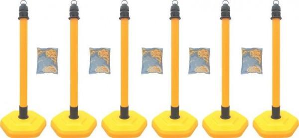 Kettenpfosten Multimax, 6-er Set - gelb -