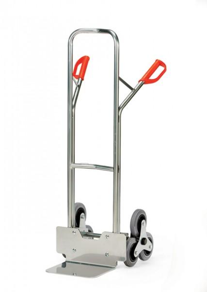 Alu-Treppenkarren 200 kg Tragkraft, 320x250 mm Schaufel, 2 x 3-fach Radsterne