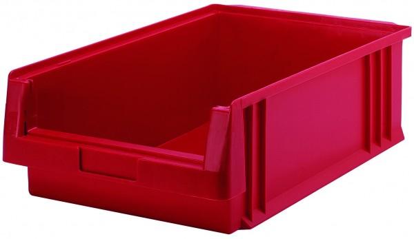 Sichtlagerkästen PLK 1c rot 500x315x150 mm, aus Polypropylen (PP), stapelbar, VE = 10 Stück