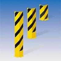 Anfahr-Rammschutz aus Stahl, 2 Höhen, schwarz-gelb