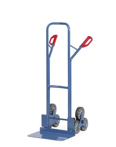 Treppenkarren 200 kg Tragkraft, 300x480 mm Schaufel, 2 x 3-fach Radsterne