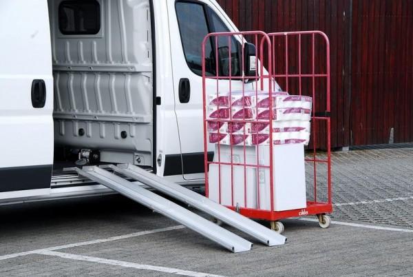 Leichte Verladeschienen, Tragkraft 500 kg/Paar, Länge 2000 mm, Breite 150/235 mm Aluminium