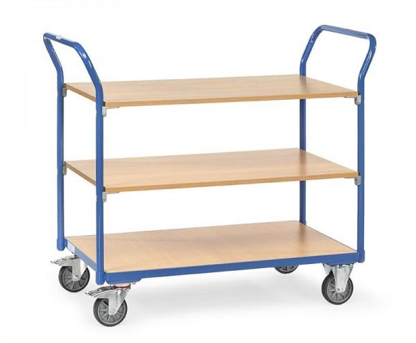 Tischwagen 200 kg Tragkraft, 1000x600 mm, 3 Etagen