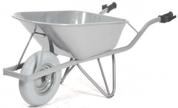 Schubkarre - Baustellenkarre Standard, 80 Liter Inhalt, 250 kg Tragkraft, pannensichere Reifen