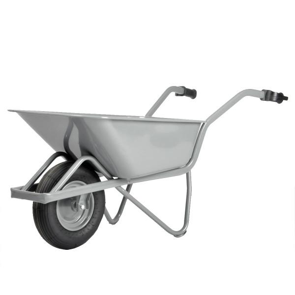 Straßenbau-Schubkarre EASY RIDER, rechteckig extra verstärkt, Luft-Reifen, 80 Liter Inhalt