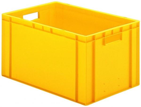 Stapelkästen Höhe 320 mm gelb TK 600/400, Wände und Boden geschlossen, 2 Stück
