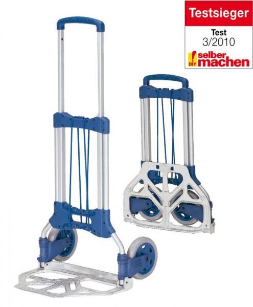 Alu-Paketroller 125 kg Tragkraft, 320x480 mm Schaufel klappbar, Polymerräder