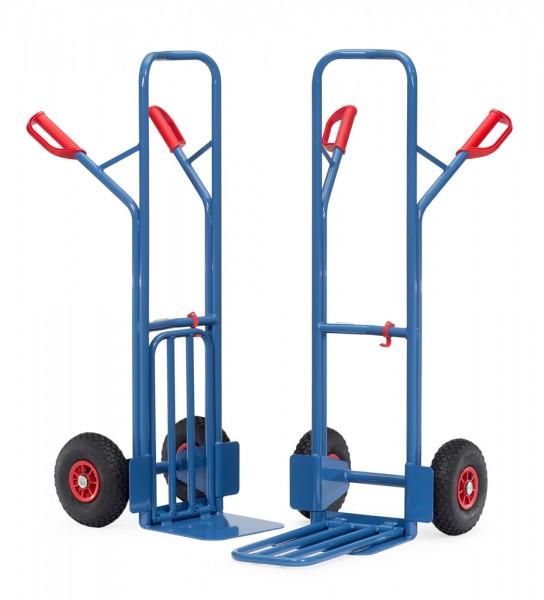 Paketkarren, Schaufel klappbar, 250x320mm, 300 kg Tragkraft, Höhe 1300mm, Vollgummireifen