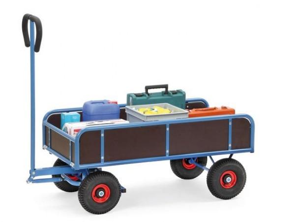Handwagen 1145x645 mm, 4 Wände, 400 kg Tragkraft, Luft-Bereifung
