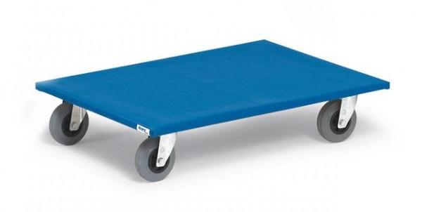 Möbelroller 500 kg Tragkraft, 800x600 mm, Vollgummi-Räder -spurlos