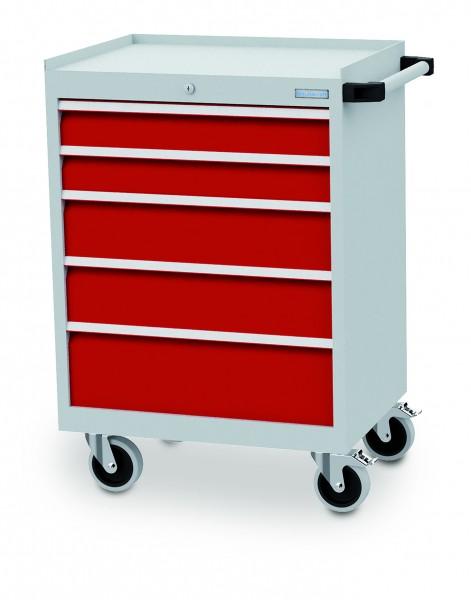 Schubladenschrank fahrbar 680x500x990 mm, 500 kg Tragkraft, 7 Schubladen