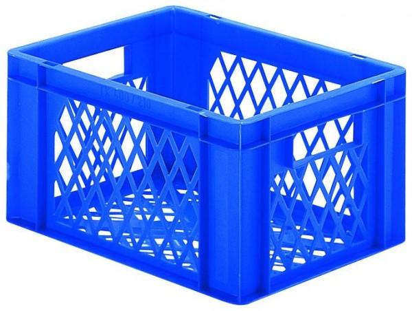 Stapelkästen Höhe 210 mm blau, TK 400, Wände und Boden durchbrochen, 4 Stück