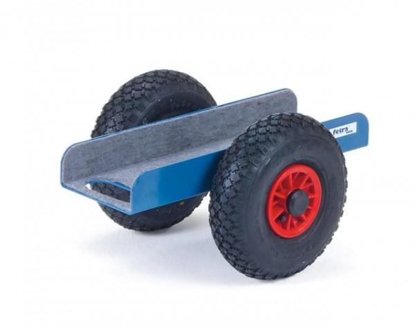 Plattenroller U-Form 500x150 mm, Vollgummi-Reifen, 500 kg Tragkraft
