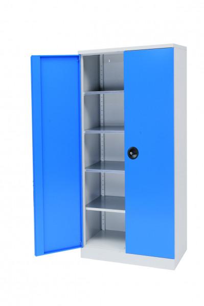 Flügeltürschrank Breite 930x600 mm, Höhe 1950 mm, 4 verzinkten Fachböden -unser Bestseller--