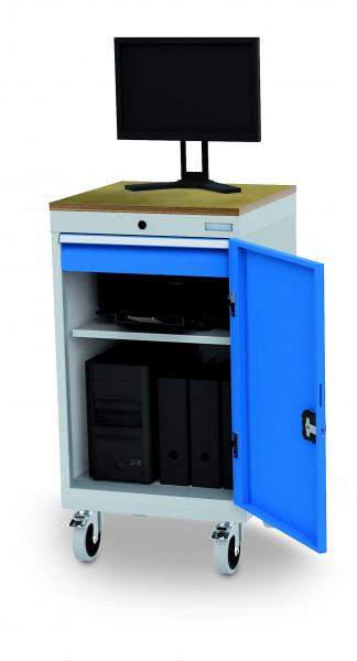 Stationärer Computerschrank mit Arbeitsplatte für Monitor, 530x500x850 mm,