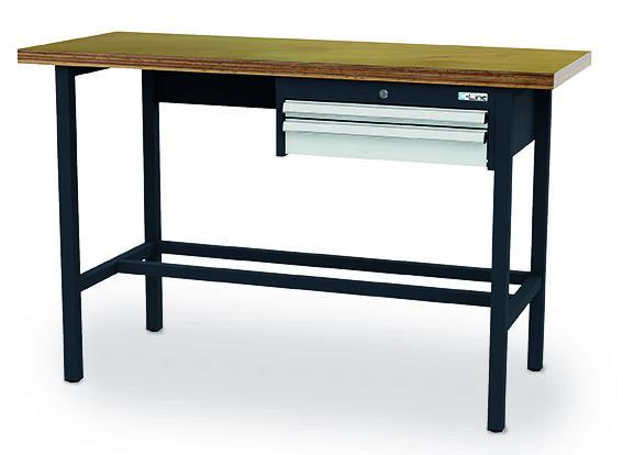 Arbeitstisch 2000x600x960 mm, 2 Schubladen, feststehend, 200 kg Tragkraft