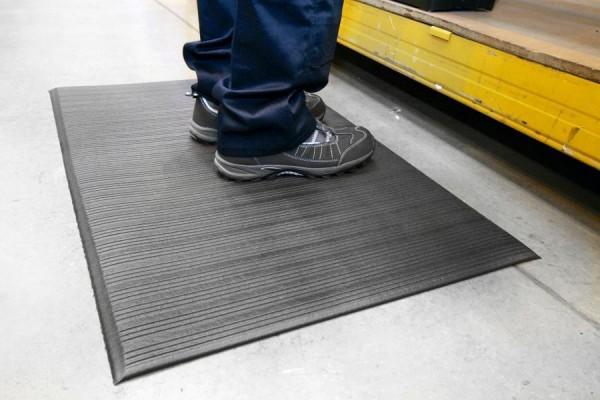 Arbeitsplatzmatte Orthomat® Ribbed, schwarz 900 mm x 18,3 Meter