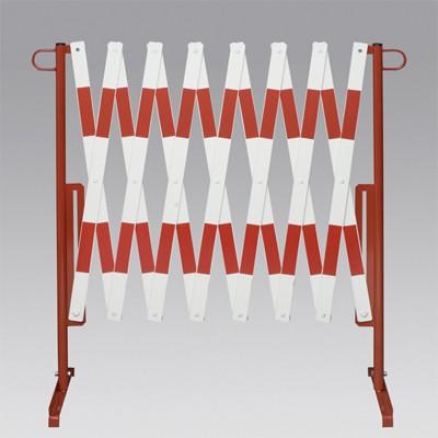 Leichte Scherensperre, 3600 x 1000 mm, rot-weiß für schnelles Absperren