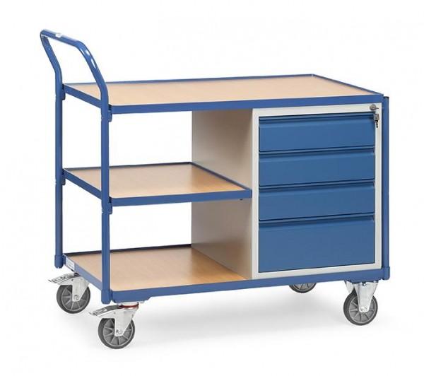 Tischwagen 300 kg Tragkraft, 1000x600 mm, 4 Schubladen