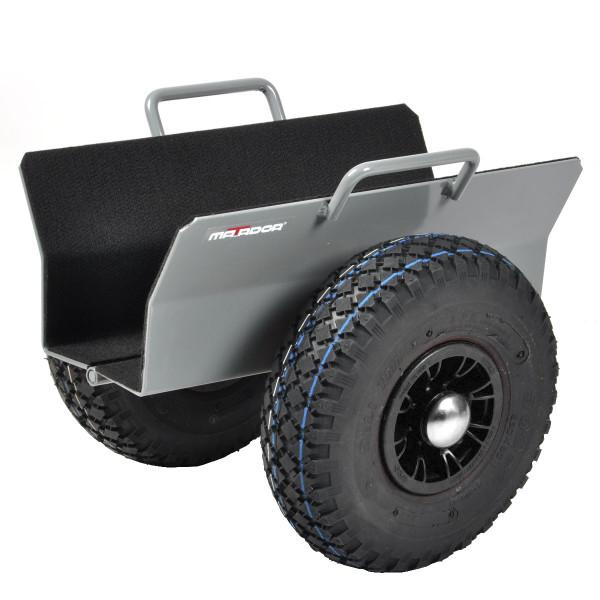Plattenroller 125 mm, Luft-Reifen, 300 kg Tragkraft, 390x365x350 mm