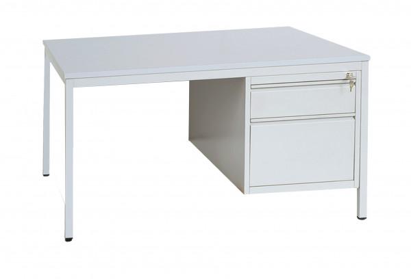 Meisterschreibtisch 1800x800x750 mm, feststehend, Schubladenunterbauschrank