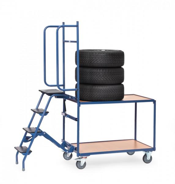 Reifen-Kommissionierwagen 250 kg Tragkraft, 1000x600 mm Ladefläche