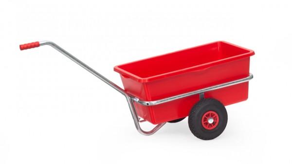 Leichter Handwagen 700x400 mm, verzinkt, 200 kg Tragkraft, mit Kunststoffmulde
