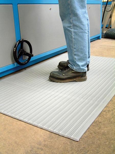 Arbeitsplatzmatte Orthomat® Ribbed, grau 900 mm x lfd. Meter