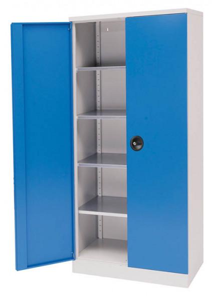 Flügeltürschrank Breite 930x500 mm, Höhe 1950 mm, 4 verzinkten Fachböden, -unser Bestseller-