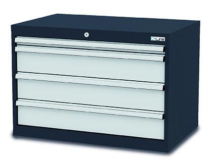 Schubladenschrank 900x575x620 mm, 4 Schubladen, anthrazit