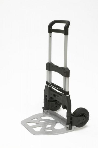 Kompakte Paket- und Stapelkarre, klappbare Schaufel 480x330 mm, 250 kg Tragkraft