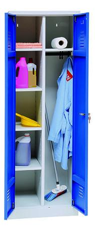 Wäsche-Reinigungsschrank, 800 mm breit, 2 Türen abschließbar, mit Sockel, 1800x800x500 mm