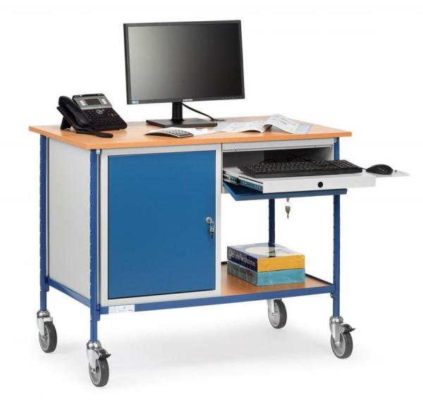 Rolltisch mit Arbeitsplatten 150 kg Tragkraft, 1120x650 mm