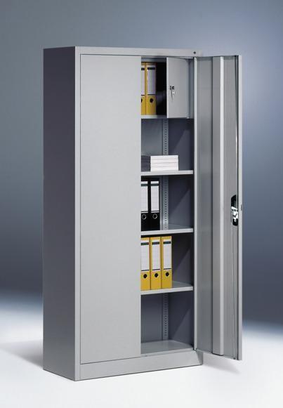 Flügeltürschränke mit Schließfach, Breite 930x500 mm, Höhe 1950 mm, 3 Farben
