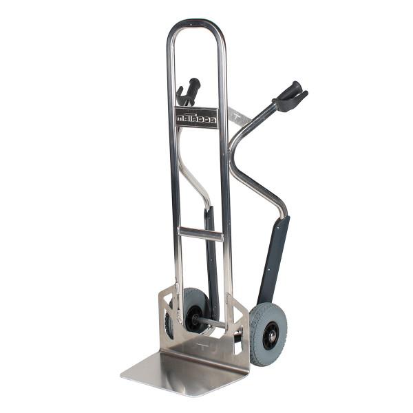 Alu-Getränkekarre pannensicher, 350 kg Tragkraft, Schaufel 450x300 mm, Höhe 1367 mm