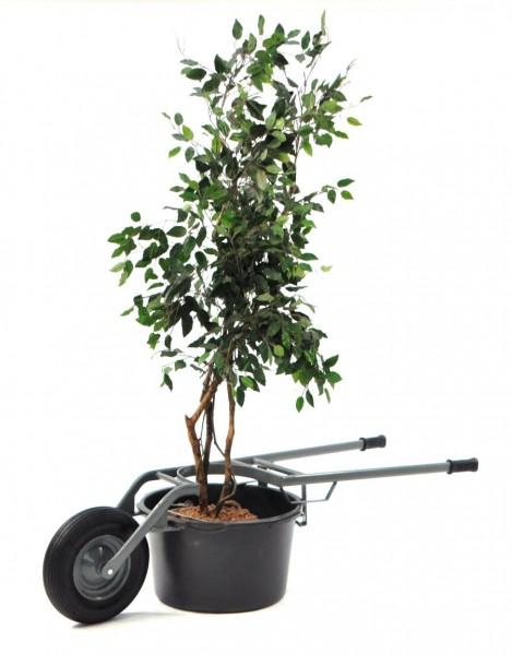 Pflanzkübelkarre für Kübel und Wannen mit 65 und 95 Liter Ø 500 – 600 mm, 250 kg Tragkraft