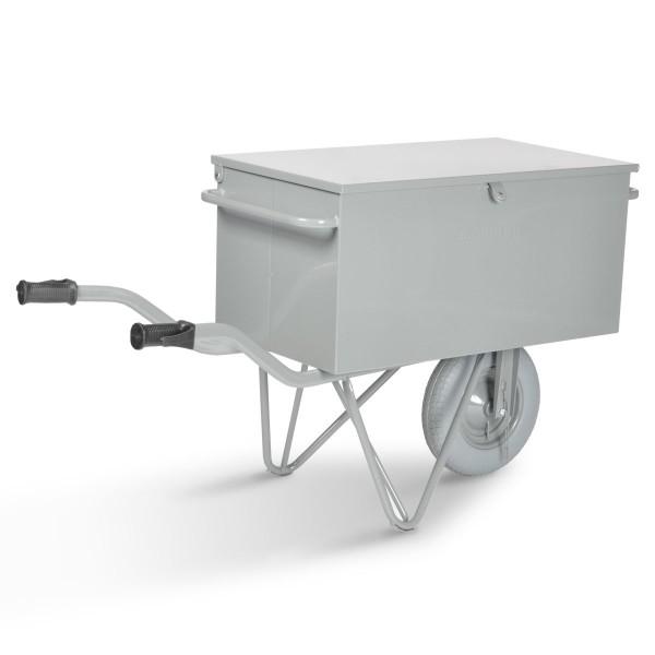 Werkzeug-Transportwagen mit Tragegriffen, Fußstützen, pannensicherem Rad