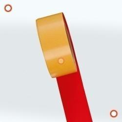 Bodenmarkierband, Breite 75 mm, Bandlänge 25 m, selbstklebend, 4 Farben