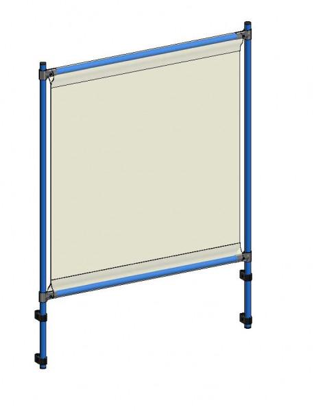 Infektionsschutzrahmen 1060x49x1410 mm, Anbausatz, PVC Klarsichtfolie glasklar