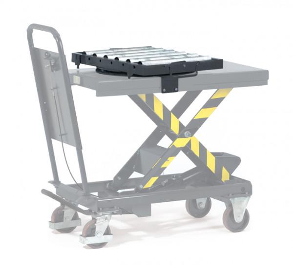 Rollenbahn mit Kugeldehkranz, 500 kg Tragkraft