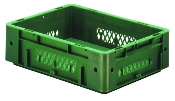 Schwerlast-Stapelkästen grün VTK 400/120-1 (PP), Wände durchbrochen Boden geschlossen, VE = 4 Stück
